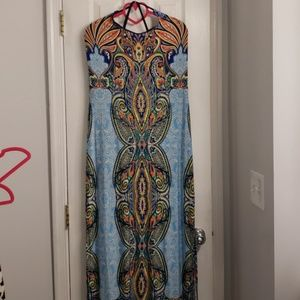 GS Love multicolored maxi dress